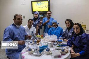 افطار کادر درمان بیمارستان