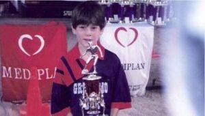فیلم/ مهارت بی نظیر مسی در ۸ سالگی