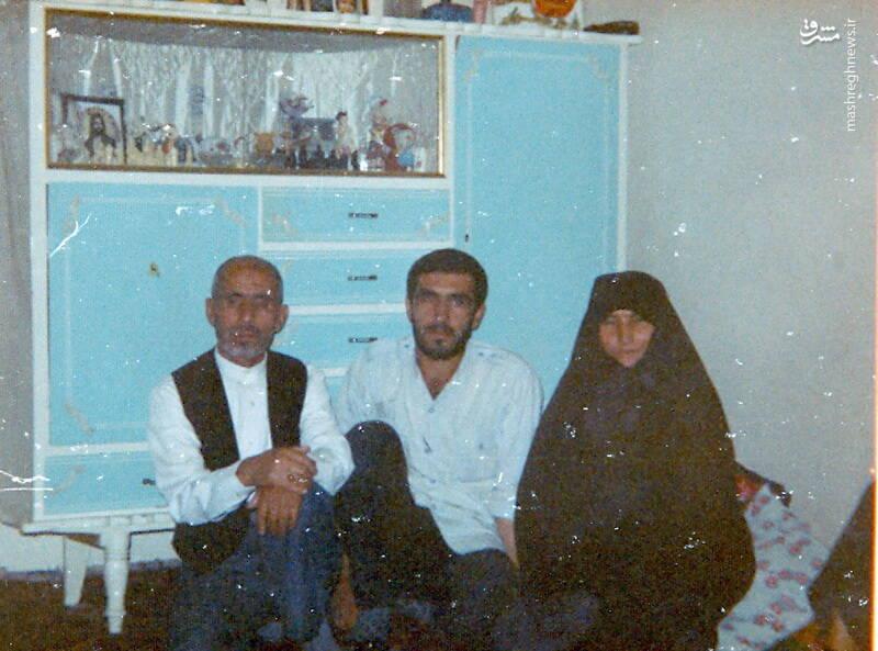 سردار شهید «رضا حسن پور» و پدر و مادرش