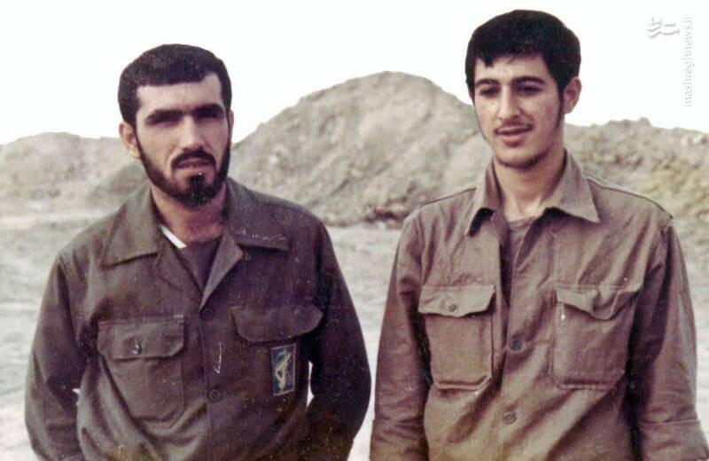سردار شهید «رضا حسن پور» و شهید «مجید زین الدین»