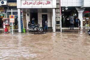 """عکس/ """"سیرجان"""" بعد از بارندگیهای شدید"""