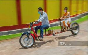عکس/ از اختراعات دوران فاصلهگذاری اجتماعی در هند!
