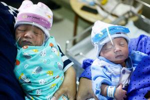 عکس/ نوزادان در دوران کرونا