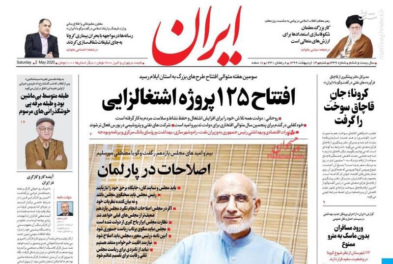 ایران: افتتاح ۱۲۵ پروژه اشتغالزایی