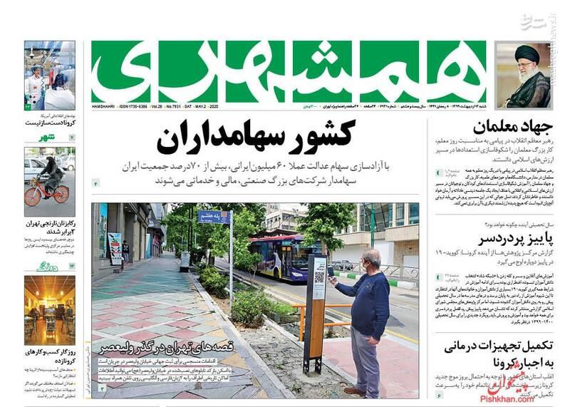 همشهری: کشور سهامداران