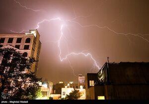 عکس/ رعد و برق امشب تهران