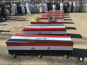 عکس/ مراسم دفن شهداء حشد الشعبی