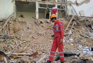 ریزش ساختمانی سه طبقه در تهران خانم ۸۰ ساله را به کام مرگ برد