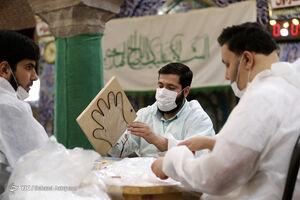 عکس/ ادامه روند تولید ماسک توسط جهادگران