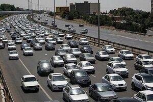 آزادراه کرج-تهران قفل شد/ ترافیک سنگین از پل فردیس تا چیتگر