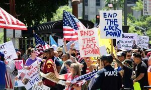 فیلم/ معترضان خیابانهای لس آنجلس را بستند