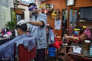 عکس/ بازگشایی آرایشگاهها در تایلند
