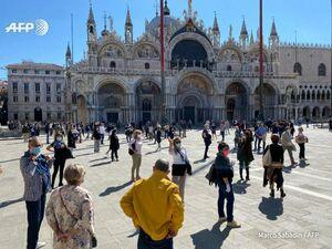 فیلم/ اعتراض مغازهداران ونیز ایتالیا