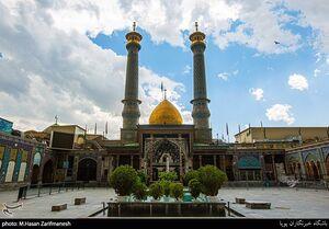بازگشایی دربهای حرم حضرت عبدالعظیم(ع) به روی زائران