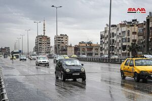 بارندگی باران در دمشق