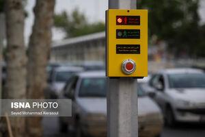 عکس/ اولین چراغ صوتی عابر پیاده در مشهد
