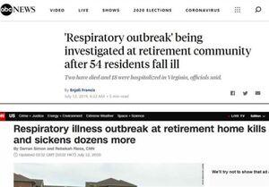 رسانههای آمریکا: بیماری کشنده ناشناس تنفسی یک سال قبل در این کشور شیوع یافته بود