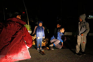 کودکان در زلزله شب گذشته