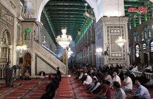 عکس/ نماز جمعه در مسجد جامع اموی دمشق