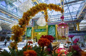 عکس/ آذین بندی کربلا با فرارسیدن ۱۵ رمضان