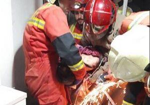 عکس/ انفجار شدید در ساختمان چهار طبقه در تهران