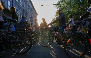 برگزاری تظاهرات با دوچرخه