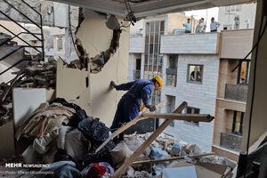 تصاویر جدید از انفجار منزل مسکونی در تهران