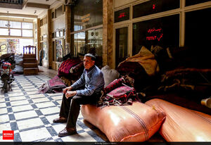 عکس/ بازار فرش مشهد در روزهای کرونایی