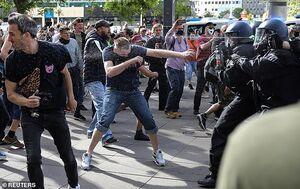 بازداشت معترضان قرنطینه در آلمان