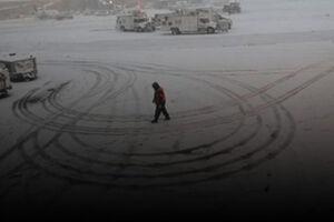 فیلم/ گردباد قطبی همراه با بارش برف در آمریکا