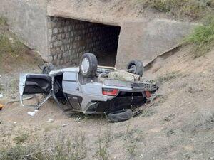 سقوط پژو در پل +عکس