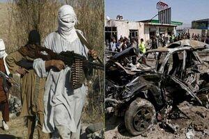 خودروی مملو از مواد منفجره طالبان در افغانستان منهدم شد