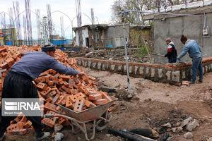 عکس/ بازسازی مناطق زلزله زده میانه