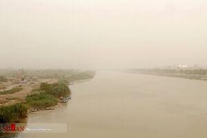 عکس/ گرد و خاک در آسمان آبادان