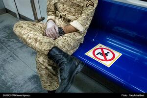 فاصله گذاری اجتماعی در مترو تهران