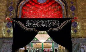 عکس/ حرم حضرت علی(ع) سیاه پوش شد