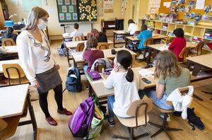 عکس/ بازگشایی مدارس در سوییس