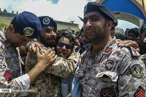 عکس/ تشییع پیکر مطهر شهدای نیروی دریایی ارتش