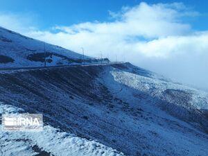 عکس/ بارش برف بهاری در ارتفاعات خلخال