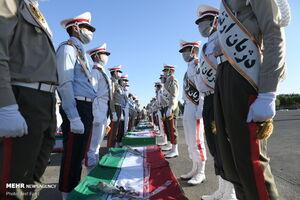 عکس/ استقبال از پیکر شهدای نیروی دریایی در پایگاه شهید لشکری تهران