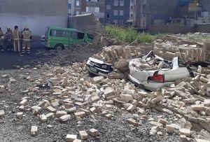 وزش شدید باد در شهرری حادثه آفرید +عکس