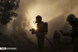 آتشسوزی در اتوبان تهران کرج