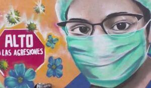 فیلم/ قدردانی از کادر درمان به سبک یک نقاش