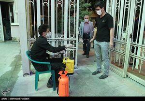 عکس/ رعایت پروتکلهای بهداشتی در مهدیه تهران