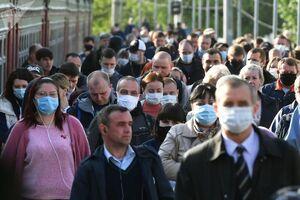 عکس/ ماسک زدن اجباری در روسیه