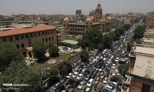 عکس/ بازگشایی بازار پاکستان و خطر شیوع کرونا