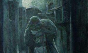 نقاشی «حسن روحالامین» با موضوع امام علی(ع)