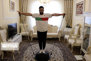 تمرین ورزشکاران تبریزی در شرایط کرونا