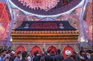 تصویری زیبا از ضریح مطهر حضرت علی(ع)