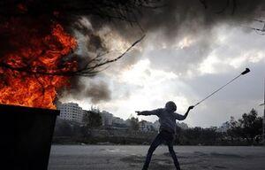 فیلم/ فرار نظامیان صهیونیست از جوانان فلسطینی